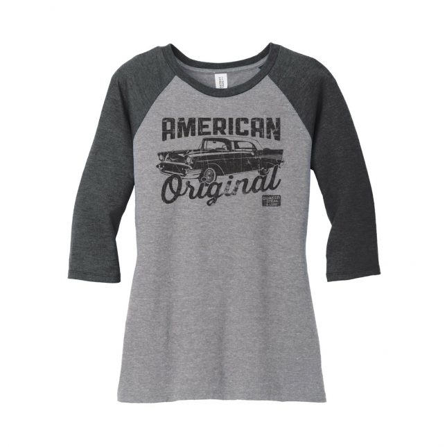 QSL17 AmericanOriginal BaseballTee Ladies Black 1200