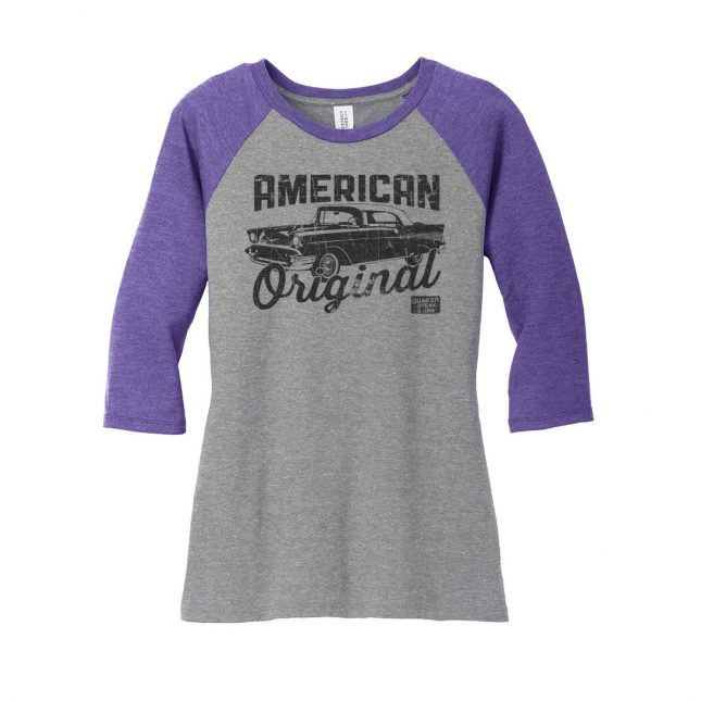 QSL17 AmericanOriginal BaseballTee Ladies Purple 1200