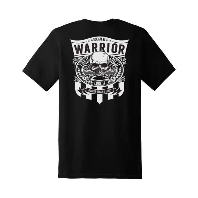 QSL18 Road Warrior Tee black back g5000 1200