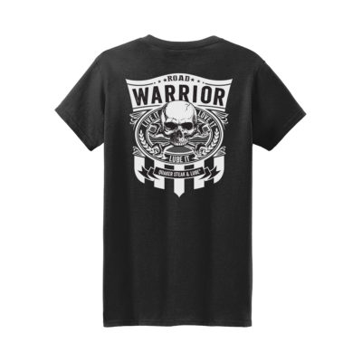 QSL18 Road Warrior Tee black back g5000l 1200