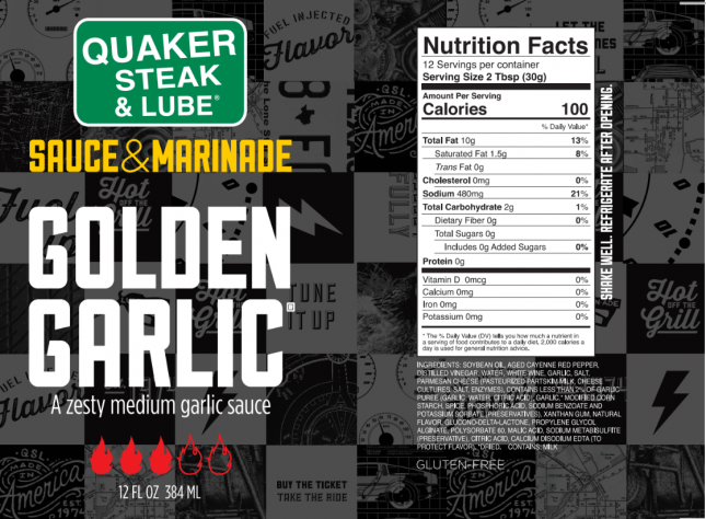 Golden Garlic Label