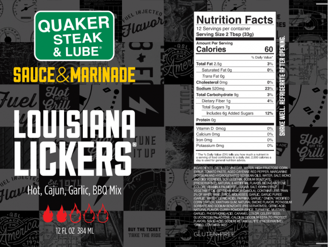 Louisiana Lickers Label